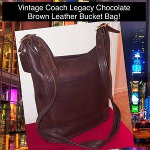 98696374950 VTG Coach Legacy Leather Bucket Crossbody Hobo Bag